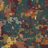 Teste padrão colorido sumário da camuflagem Fundo futurista da composição Conceito do labirinto rendição 3d fotografia de stock royalty free