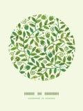 Teste padrão colorido Textured da decoração do círculo dos ramos Imagem de Stock