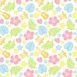 Teste padrão colorido tropical Fotos de Stock Royalty Free