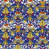 Teste padrão colorido turco sem emenda Teste padrão multicolorido do vintage no estilo oriental O teste padrão floral infinito po fotos de stock