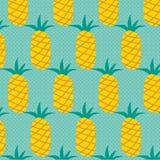 Teste padrão com abacaxis Fotografia de Stock