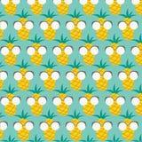 Teste padrão com abacaxis Fotos de Stock Royalty Free