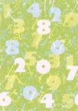 Teste padrão com alfabeto & número Fotografia de Stock