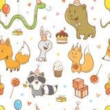 Teste padrão com animais ilustração do vetor