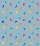 Teste padrão com aviões coloridos Foto de Stock