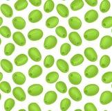 Teste padrão com azeitonas verdes ilustração royalty free