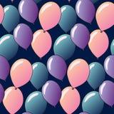 Teste padrão com balões Foto de Stock Royalty Free