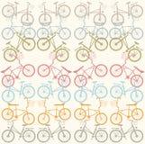 Teste padrão com bicicletas à moda Fotografia de Stock