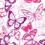 Teste padrão com borboleta Fotografia de Stock Royalty Free
