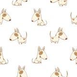 Teste padrão com cães Imagens de Stock