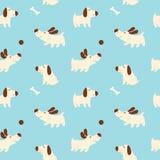Teste padrão com cães bonitos Imagem de Stock Royalty Free