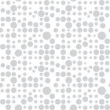Teste padrão com círculos, fundo pontilhado Sem emenda repetindo ilustração royalty free