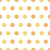 Teste padrão com círculos tirados mão Foto de Stock