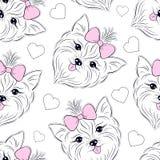 Teste padrão com cabeça do cão ilustração royalty free