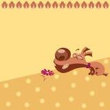 Teste padrão com cachorrinho dos desenhos animados Imagem de Stock