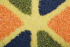 Teste padrão com cereais da cor Imagens de Stock Royalty Free