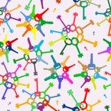 Teste padrão com chaves coloridas Imagem de Stock