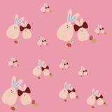 Teste padrão com coelhos da Páscoa Foto de Stock Royalty Free