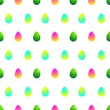 Teste padrão com collours diferentes dos ovos da páscoa ilustração do vetor