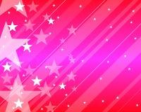 Teste padrão com cor-de-rosa das estrelas Foto de Stock Royalty Free