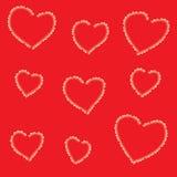 Teste padrão com corações fotografia de stock