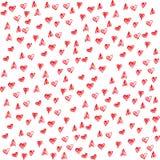 Teste padrão com corações Fotos de Stock Royalty Free