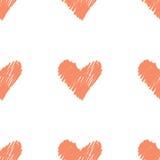 Teste padrão com corações Foto de Stock