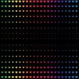 Teste padrão com corações do arco-íris Imagem de Stock