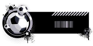 Teste padrão com esfera de futebol foto de stock royalty free