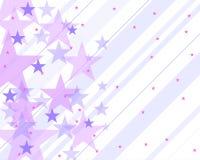 Teste padrão com estrelas e roxo Foto de Stock