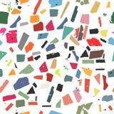 Teste padrão com figuras coloridas Fotografia de Stock
