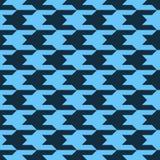 Teste padrão com figuras pretas em um fundo azul Imagem de Stock