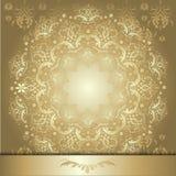 Teste padrão com fita do ouro Fotos de Stock Royalty Free