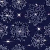 Teste padrão com flocos de neve Fotografia de Stock Royalty Free