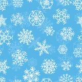 Teste padrão com flocos de neve ilustração do vetor