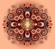 Teste padrão com flor Imagem de Stock Royalty Free