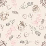 Teste padrão com flores Foto de Stock Royalty Free