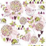 Teste padrão com flores Fotos de Stock