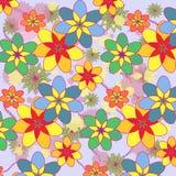 Teste padrão com flores Foto de Stock