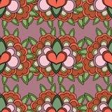 Teste padrão com flores abstratas Foto de Stock