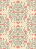 Teste padrão com flores cor-de-rosa Imagens de Stock