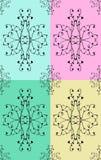 Teste padrão com flores e folhas ilustração stock