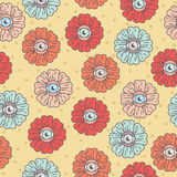 Teste padrão com flores margarida do olho Foto de Stock Royalty Free