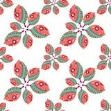 Teste padrão com folhas decorativas Ilustração do Vetor