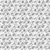 Teste padrão com folhas em um fundo branco fotografia de stock