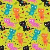 Teste padrão com gatos Imagem de Stock Royalty Free