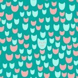 Teste padrão com gatos de sorriso Foto de Stock