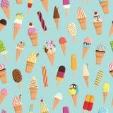 Teste padrão com gelado colorido bonito Fotografia de Stock