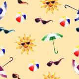 teste padrão com guarda-chuva Fotografia de Stock