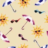 Teste padrão com guarda-chuva Foto de Stock Royalty Free
